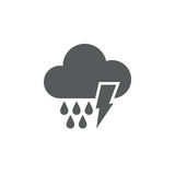 Lightning and rain icon isolated on white background. Vector illustration. Lightning and rain icon isolated on white background. Vector illustration vector illustration