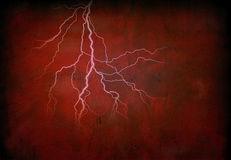 Lightning on Red Royalty Free Stock Photo