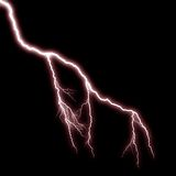 Lightning Red Bolt. / Branching Little Flash royalty free stock images