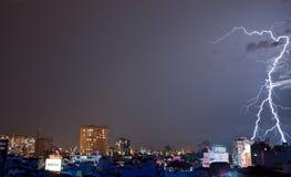 Lightning Reminding the Shape of Lambda Royalty Free Stock Photo