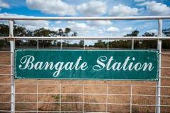 Bangate Station entrance and gate stock image