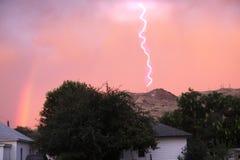 Lightning on Rinehart Butte Stock Photography