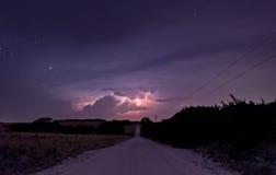 Lightning Road Stock Images