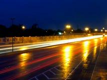 Lightning roadway Stock Image