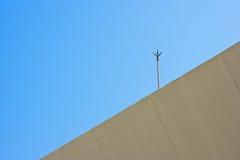 Lightning rod. The lightning rod with blue sky background Stock Images