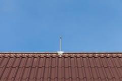 Lightning rod. On a roof Stock Photos