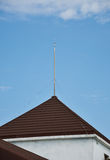 Lightning rod on the roof Royalty Free Stock Images
