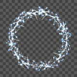 Lightning Round Decorative Frame on Transparent Background. Vector Stock Photos