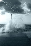 Lightning and sea Royalty Free Stock Photography