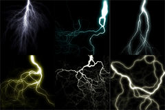 Lightning set Stock Photography