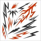 Lightning set isolated on white. Vector stock Stock Photo