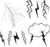 Lightning set vector Stock Photos