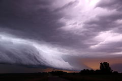 Lightning shelf cloud Royalty Free Stock Photos
