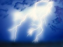 Lightning showdown Royalty Free Stock Image