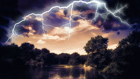 Lightning showdown Royalty Free Stock Photo