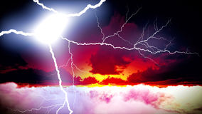 Lightning showdown Royalty Free Stock Photography
