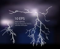 Lightning silhouette Royalty Free Stock Photography