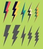 Lightning silhouettes. Royalty Free Stock Photos