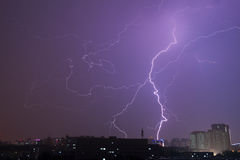 Lightning in sky Royalty Free Stock Images