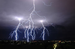 Lightning sky Royalty Free Stock Photo