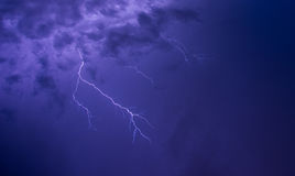 Lightning sky Stock Image