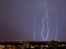 lightning in the sky Royalty Free Stock Photo