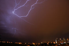 Lightning in the sky Royalty Free Stock Photos