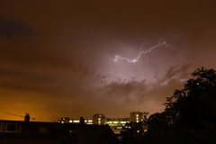 Lightning in the sky Royalty Free Stock Images