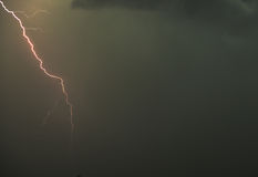 Lightning in the sky Stock Photography