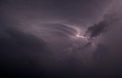 Lightning in the sky Royalty Free Stock Image