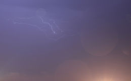 Lightning in the sky Stock Photo