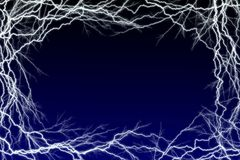 Lightning Sparks Frame royalty free illustration