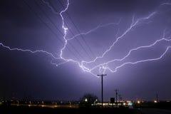 Lightning Stirke Cloud. Lightning weather bolt thunder storm Stock Images