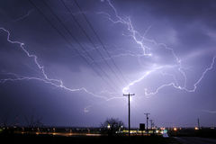 Lightning Stirke Cloud. Lightning weather bolt thunder storm Royalty Free Stock Photo