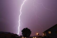 Lightning Stirke Cloud. Lightning weather bolt thunder storm Royalty Free Stock Images