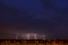 Lightning storm. Photo of a lightning storm Stock Images