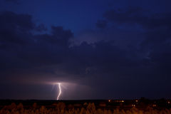 Lightning storm. Photo of a lightning storm Royalty Free Stock Photography