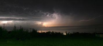 Lightning Storm. A lightning storm Royalty Free Stock Images