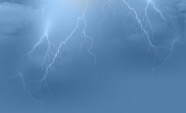 Lightning storm background Stock Images