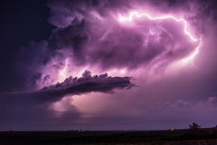 Lightning storm cloud Stock Photography