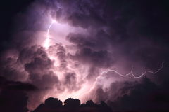 Lightning storm cloud Royalty Free Stock Photography