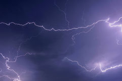 Lightning storm clouds sky Royalty Free Stock Photography