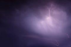 Lightning storm clouds sky Royalty Free Stock Photos