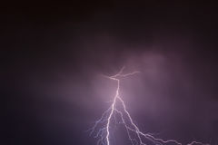 Lightning storm clouds sky Royalty Free Stock Image