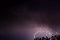Lightning storm clouds sky Stock Photos
