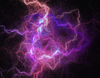 Lightning storm like space abstract background. Royalty Free Stock Images
