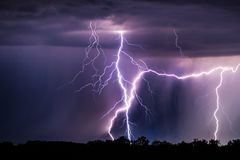 Lightning storm Stock Photo