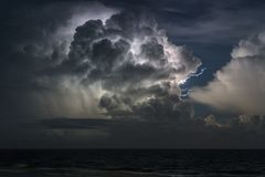 Lightning Storm over the Atlantic Royalty Free Stock Photos