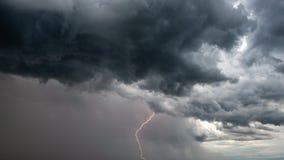 Lightning storm over the city, Prague, Czech republic stock images