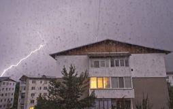 Lightning storm Stock Photo